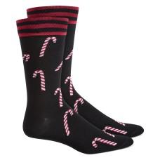 Bar III Men's Candy Cane Socks, Black