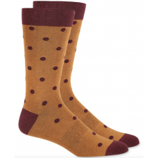 Bar III Men's Polka Dot Socks (Brown, 10-13)