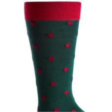 Bar Iii Men's Polka Dot Socks (Green, 10-13)