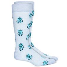Bar III Men's Robot Socks (Blue)
