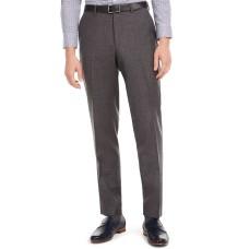 Bar III Men's Slim-Fit Gray Flannel Suit Separate Pants (Gray, 34X32)