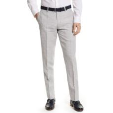 Bar Iii Mens Slim-Fit Gray Plaid Linen Suit Separate Pants