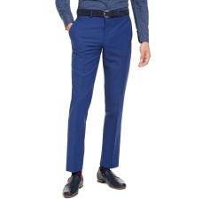 Bar III Men's Slim-Fit PerFormance Active Stretch Blue Sharkskin Suit Separate Pants
