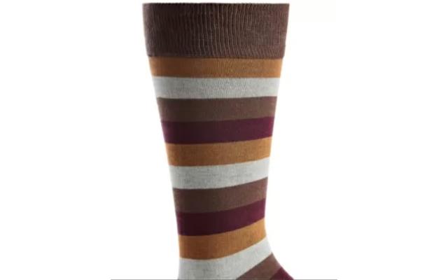 Men's Stripe Socks, Brown