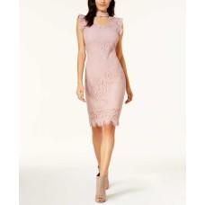 Bar III Women's Lace Choker Dress (Powdery Mauve, M)