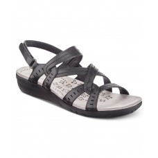 Bare Traps Jacey Wedge Sandals Women's Shoes (Black, 10)