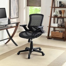 Bayside Furnishings Metrex IV Mesh Office Chair Fully Adjustable Armrests, Black