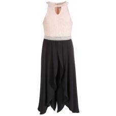 Beautees Big Girls Embellished Lace Jumpsuit (Pastel Pink, 14)
