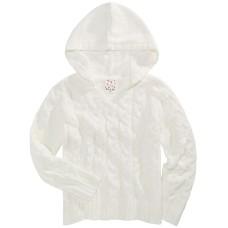 Belle Du Jour Big Girls Cozy Chenille Hoodie (White, XL)