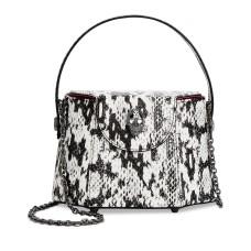 Betsey Johnson Vintage Vibes Crossbody Handbag, Black/White Snake