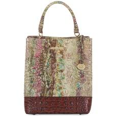 Brahmin Amelia Amethyst Norwell Embossed Leather Bucket Bag (Multi, Small)