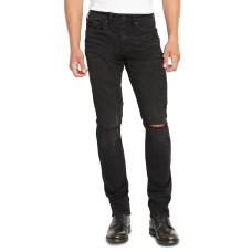 Buffalo David Bitton Men's Ash-X Slim-Fit Black Jeans (Black, 38×30)