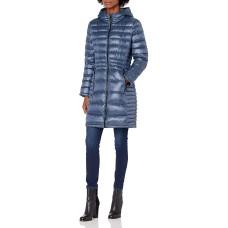 Calvin Klein Hooded Packable Puffer Coat, Blue, S