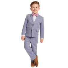 Calvin Klein Little Boys 4-Pc. Blue Dobby Suit Sets