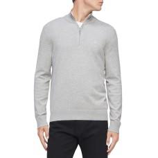 Calvin Klein Men's 1/4-Zip Sweater, Grey Heather, M
