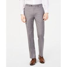 Calvin Klein Mens Slim-Fit Performance Stretch Wrinkle-Resistant Dress Pants (Light Grey 40×30)