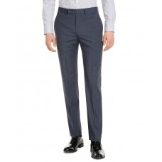 Calvin Klein Men's Slim-Fit Performance Stretch Wrinkle-Resistant Mini Grid Dress Pants