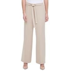 Calvin Klein Women's Tie-Front Wide-Leg Pants