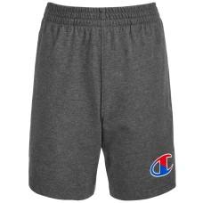 Champion Little Boys Two-Tone Logo Jersey Shorts (Gray, 7)