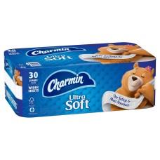Charmin Ultra Soft Bath Tissue, 2-Ply, 214 Sheets, 30 Rolls