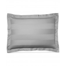 Charter Club Standard Pillow Sham Damask Stripe 500 TC Pima Cotton Grey