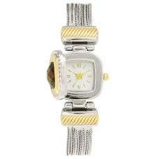 Charter Club Women's Flip Cover Two-Tone Bracelet Watch (Gold/Silver)
