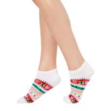 Charter Club Women's Gift Stripe Low-Cut Socks (Red/White, 9-11)