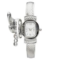 Charter Club Women's Silver-Tone Cuff Bracelet Dragonfly Watch 25mm