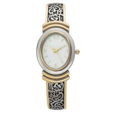 Charter Club Women's Two-Tone Cuff Bracelet Watch (28mm)
