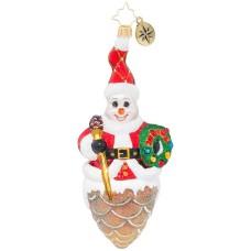 Christopher Radko Snowy Pinecone Ornament