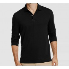 Club Room Men's Long-Sleeve Heathered Polo Shirt