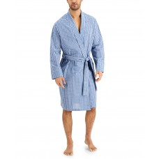 Club Room Mens Robe, Bluewhite Combo (Navy, One Size)