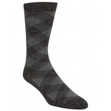 Cole Haan Men's Plaid Crew Socks, Black