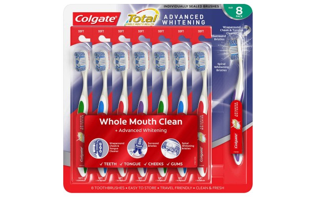 Total Advanced Whitening Toothbrush (8-pack)