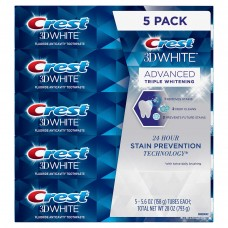 Crest 3D White Advanced Triple Whitening Toothpaste 5-pack