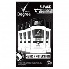 Degree Men Ultra Clear Black + White Solid Antiperspirant Deodorant 2.7oz (76g), 5-pack