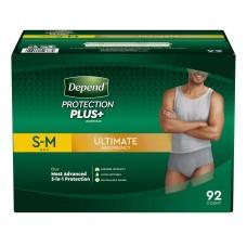 Depend Protection Plus Ultimate Underwear for Men (SMLXL)