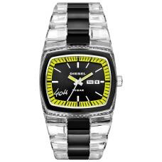 Diesel Men's 40th Anniversary 2005 Diesel Dz1879 Transparent Nylon Bracelet Watch (46x43mm)