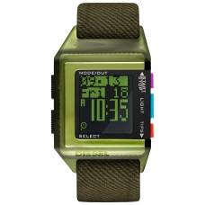 Diesel Men's 40th Anniversary Tipps Digital Olive Canvas Strap Watch (Black-Green)
