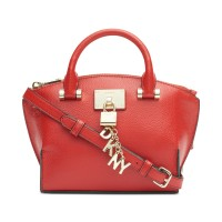 DKNY Elissa Small Leather Crossbody Handbag, Bright Red
