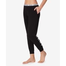 DKNY Knit Jogger Pajama Pants (Black, X-Large)