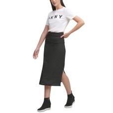 DKNY Nail Head Pencil Skirt (Black)