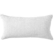 DKNY Refresh Eyelet Decorative Pillow (White, 11×22)