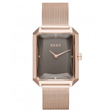 DKNY Women's Cityspire Rose Gold-Tone Stainless Steel Mesh Bracelet Watch 27x34mm