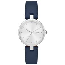 DKNY Women's Eastside Navy Leather Strap Watch 34mm