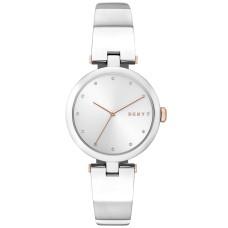 DKNY Women's Eastside Stainless Steel Bangle Bracelet Watch (White)