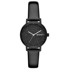 DKNY Women's Modernist Patent Leather Strap Watch (Black)