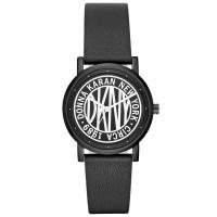 DKNY Women's SoHo Black Leather Strap Watch NY2765
