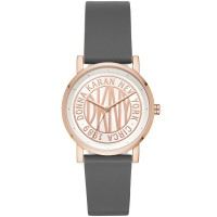 DKNY Women's SoHo Gray Leather Strap Watch 34mm