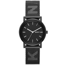 DKNY Women's SoHo Stainless Steel Mesh Bracelet Watch (Black)